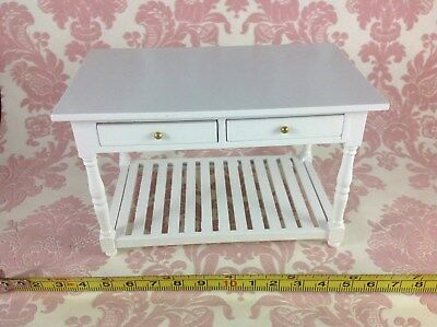 Dollhouse MIniature Furniture Kitchen/Baking/Working Wood Drawers Table 1:12