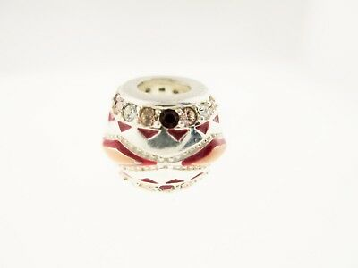 "Persona Sterling Silver /""Cup Of Coffee/"" Red Enamel Bead Charm H13135P1"