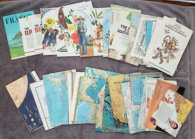 (42) 1960s-1970s National Geographic Maps w/World Ocean Floors Bible Stars+