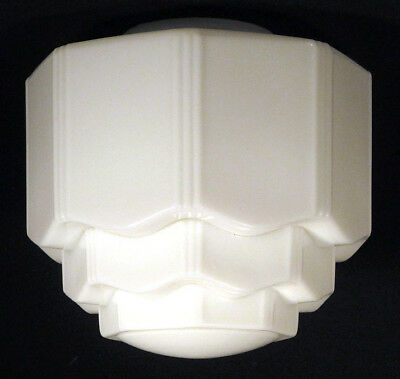 1920s 1930s vintage skyscraper milk glass lamp shade globe art deco 1920s 1930s vintage skyscraper milk glass lamp shade globe art deco geometric aloadofball Image collections