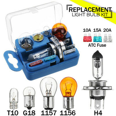 Universal Car Emergency Light Bulb Fuse Replacement Kit H4 1156 1157 G18 T10
