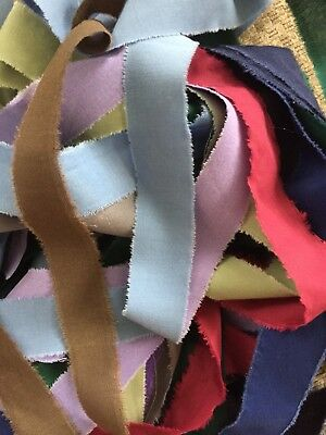 Rag Rug Fabric Strips Rugmaking Amish Knot Braided Print Solid 15 Yds