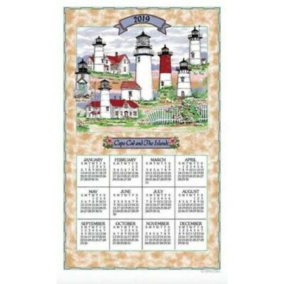 2019 Cape Cod Lighthouses Towel Calendar, Kitchen Towel by Kay Dee Designs
