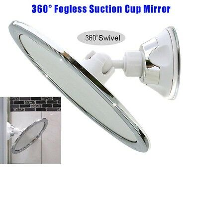 Fogless Makeup Mirror With Holder Suction Cup 360 Rotation Shower Shave Mirrors