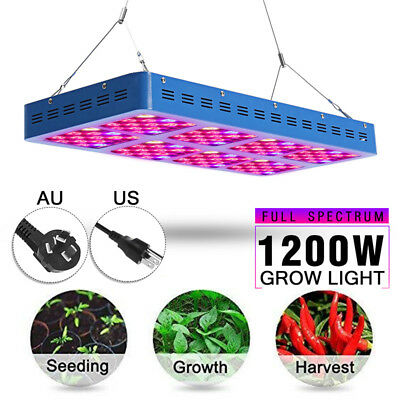 1200W LED Grow Light Panel Lamp for Hydroponic Plant Veg Growing Full Spectrum