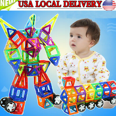95Pcs Magnetic Construction Building Toy Educational Blocks For Infant Baby Kids