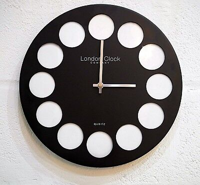 New Large Modern Black Photo Frame Family Picture Frame Collage Wall Clock Home