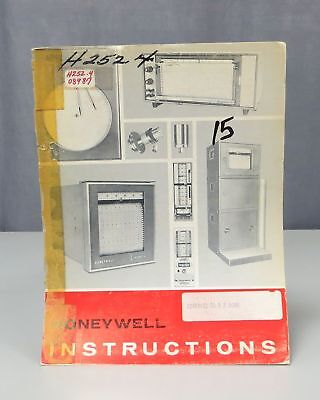 Honeywell Electronik 15 Strip Chart Two-Pen Recorder Instruction Manual