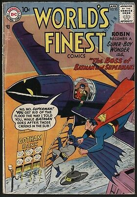 World's Finest #93 Great Cover & Story Superman & Batman.1958  Nice Page Quality