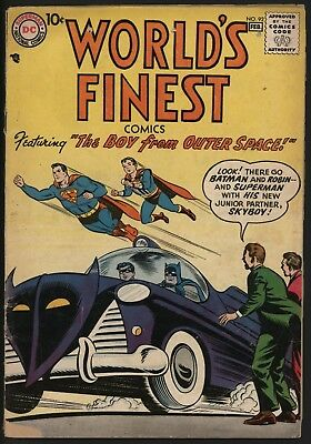 World's Finest #92 Great Batmobile Cover! Jan/feb 1958 Very Solid Copy