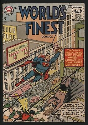 World's Finest 76. Very Scarce Superman And Batman. Great Page Quality