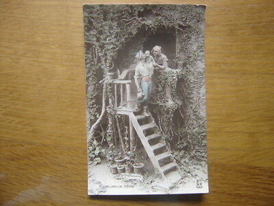 1912 CPA Postcard MASTROIANNI Allegorie Heureux Pere n°217 editions NOYER