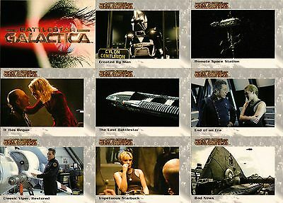 Battlestar Galactica Premiere Full 72 Card Base Set from Rittenhouse Archives