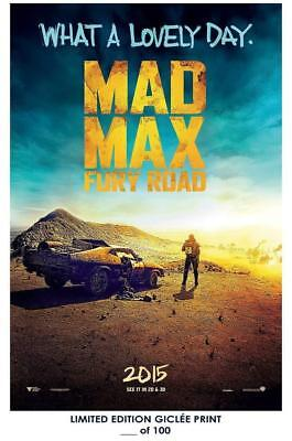 """18"""" x 12"""" Movie Giclee Art Print Poster Mad Max Fury Road 02"""