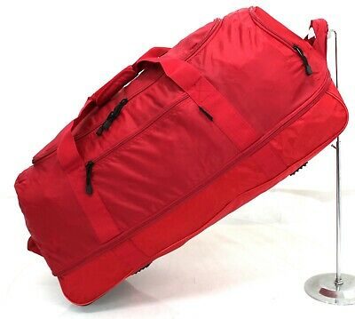 "32"" Large Folding Wheeled Bag Holdall Luggage Travel Sports Weekend Carry Case"