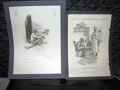 2 Cream Of Wheat Black Americana Magazine Tear Sheet Advertisements-1911 And1914