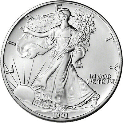 1991 American Silver Eagle - Brilliant Uncirculated