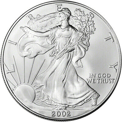 2002 American Silver Eagle - Brilliant Uncirculated