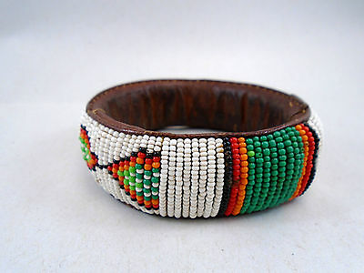 Guyana Primitive Tribal Art Beaded Bracelet Wai Wai