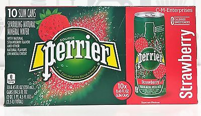 Perrier Strawberry Sparkling Natural Mineral Water 10 pack