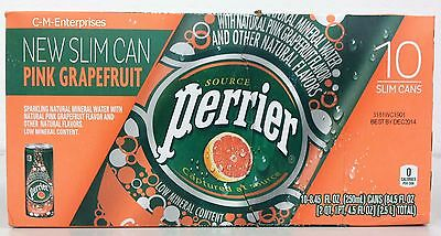 Perrier Pink Grapefruit Sparkling Natural Mineral Water 10 pack