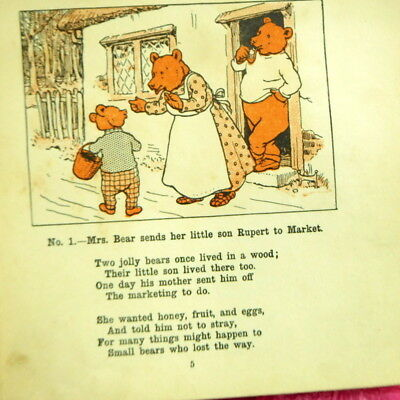 Rare antique original annual The Adventures of Rupert The Little Lost Bear vgc
