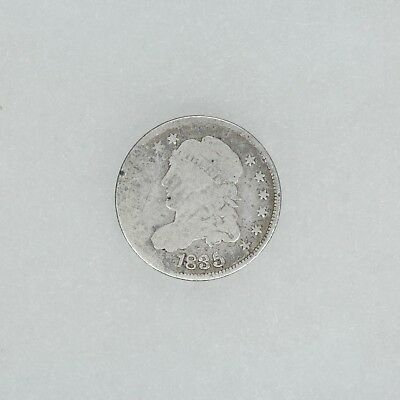 1835 Capped Bust Half Dime H10C Full Date & Liberty Circulated G Good (6167)