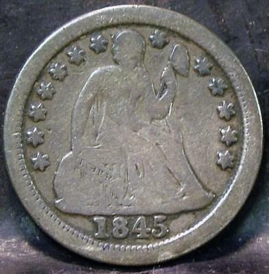 1845-O Liberty Seated Dime  Id#kk463