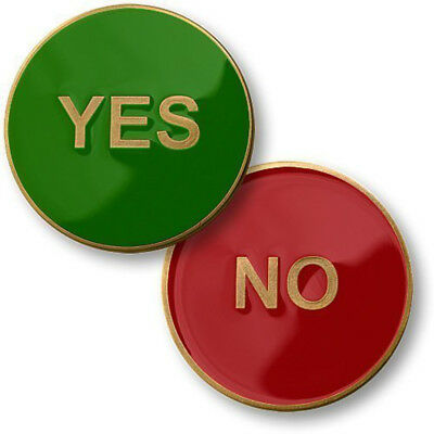 NEW Yes No Flipper Challenge Coin.