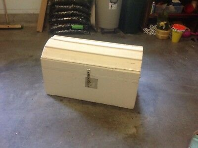 1799 Antique Blanket Chest Colonial Immigrant Chest Dome Trunk Treasure storage
