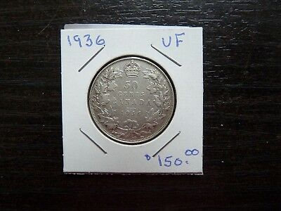 Canadian Silver 50 Cents Coin 1900-1936 and 1973 Stamp Set Currency Wreath