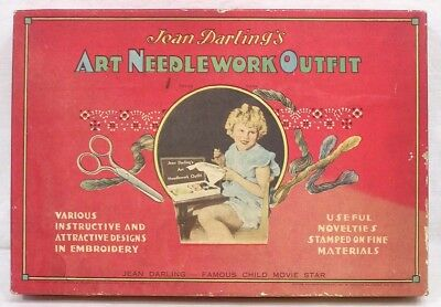 Vintage Jean Darling Our Gang Child Star Art Needlework Outfit OB Complete 1930s