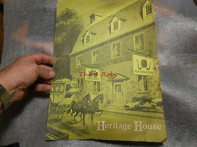 Vintage Holiday Inn of Ashtabula Heritage House Restaurant Menu Ohio
