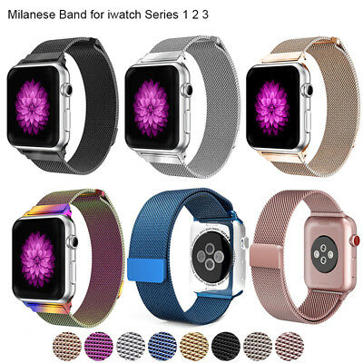 for Apple Watch iWatch 3 2 1 Band Strap Milanese Stainless Steel 38mm 42mm