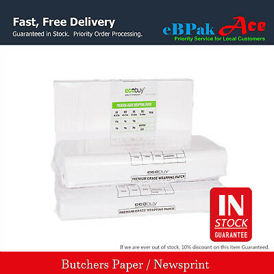 Butchers Packing Paper 600 x 840mm Food Grade White Premium Wrapping Paper ACE