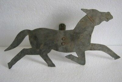Vintage Iron Running Horse Weathervane With Nickel . Weather Vane  .
