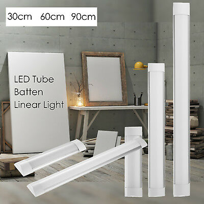 1FT 2FT 3FT 4FT LED Linear Batten Tube Light Surface Mounted Lamp Modern Fixture