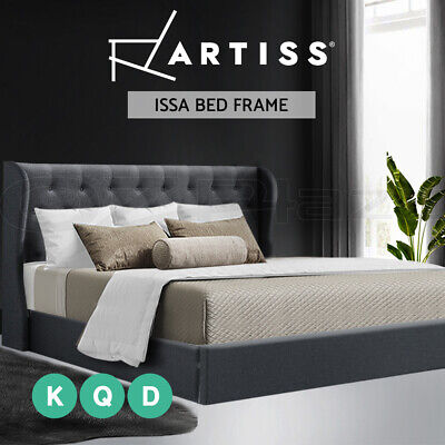 Artiss Bed Frame Double Full Queen King Size Gas Lift Base With Storage