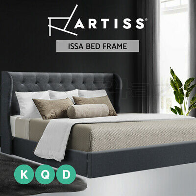 Artiss Double Full Queen King Size Gas Lift Bed Frame Base With Storage Mattress