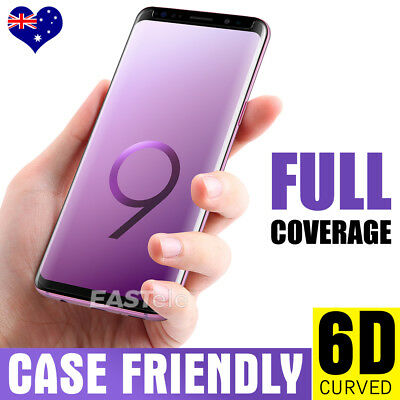 6D Samsung Galaxy S9 S8 Plus Note 9 8 Full Cover Tempered Glass Screen Protector