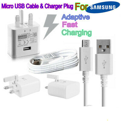 Genuine Fast Charger Plug & Cable For Samsung Galaxy S7 Edge S6 S5 Note 4 5 Hot