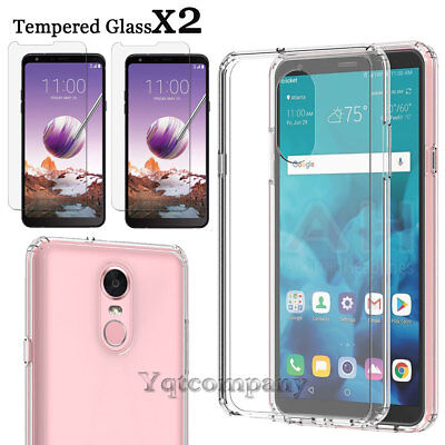 For LG Stylo 3 / 4 Plus Case Ultra Slim Shockproof Hybrid Cover+Screen Protector