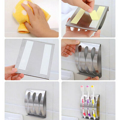 Fixed Stainless Steel Toothbrush Holder Stands Toothbrush Storage Bathroom B