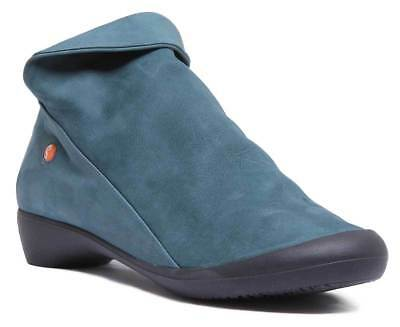 Softinos Farah Womens Casual Soft Leather Ankle Boots In Petrol Size UK 3 - 8