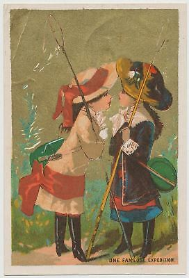 "Beautiful Girls ""A Famous Expedition"" - Victorian Trade Card 1890's"