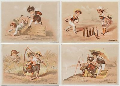 4 Wonderful Children - Victorian Trade Cards from the 1890's