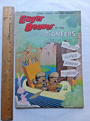 Eager Beaver in the Land O' The Pioneers. 1961 Cities Service Dealers Comic Book