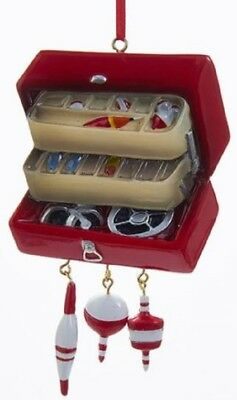Tackle Box with Bobbers and Lures Fishing Christmas Tree Ornament Decoration New