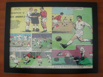 BENFICA - REAL MADRID  A3 Photo print FRAMED football soccer comic game