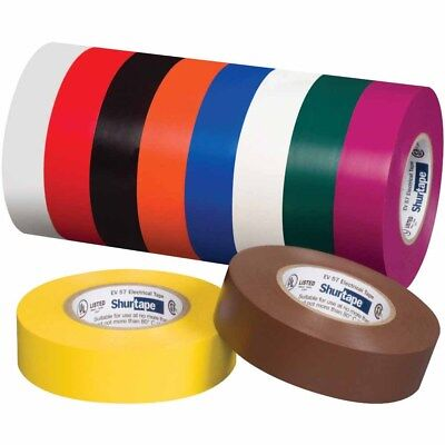 Shurtape 200783 EV 057C UL Listed Electrical Tape, White, 3/4in x 66ft